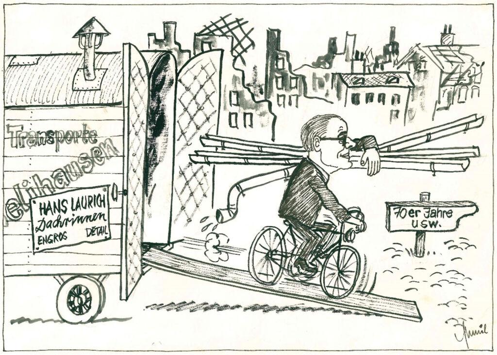1949 Hans Laurich gründet in Frankfurt Eckenheim einen Großhandel mit Spenglereibedarf